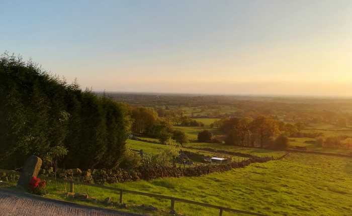 The stunning Cheshire scenery...
